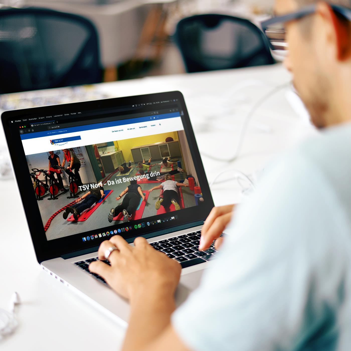 Der TSV Norf bewegt sich – auch im Internet